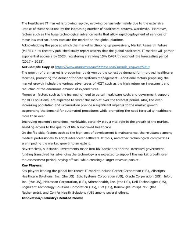 Healthcare Publications Healthcare IT market