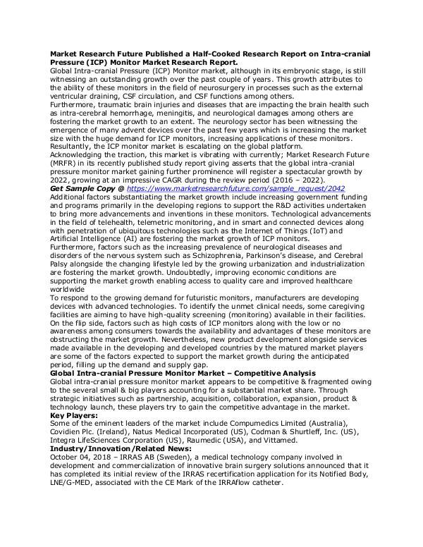 Healthcare Publications Intra-cranial Pressure (ICP) Monitor