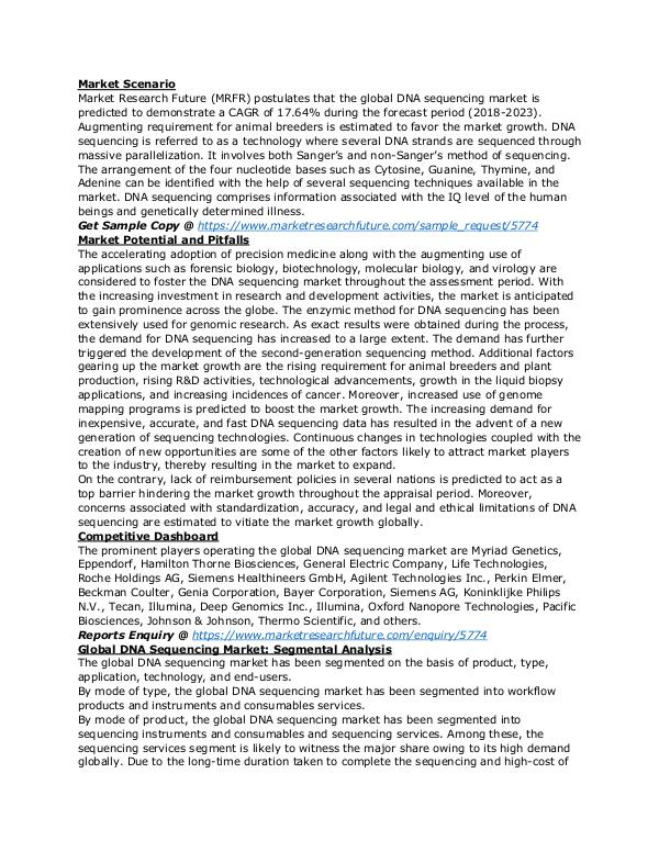 Healthcare Publications DNA sequencing market