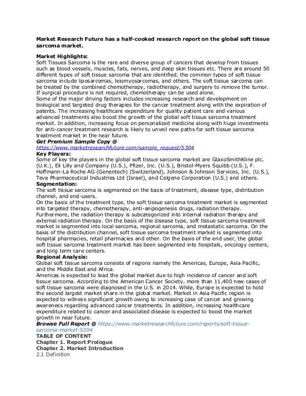 Healthcare Publications soft tissue sarcoma market