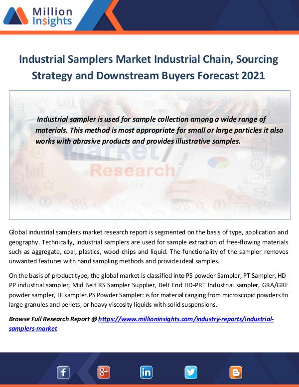 Industrial Samplers Market Industrial Chain
