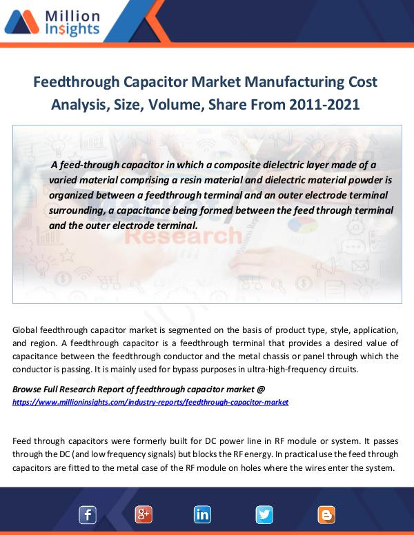 Market Revenue Feedthrough Capacitor Market Manufacturing Cost