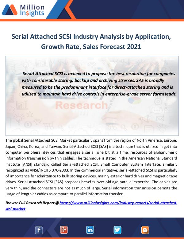 Market Revenue Serial Attached SCSI Industry Analysis