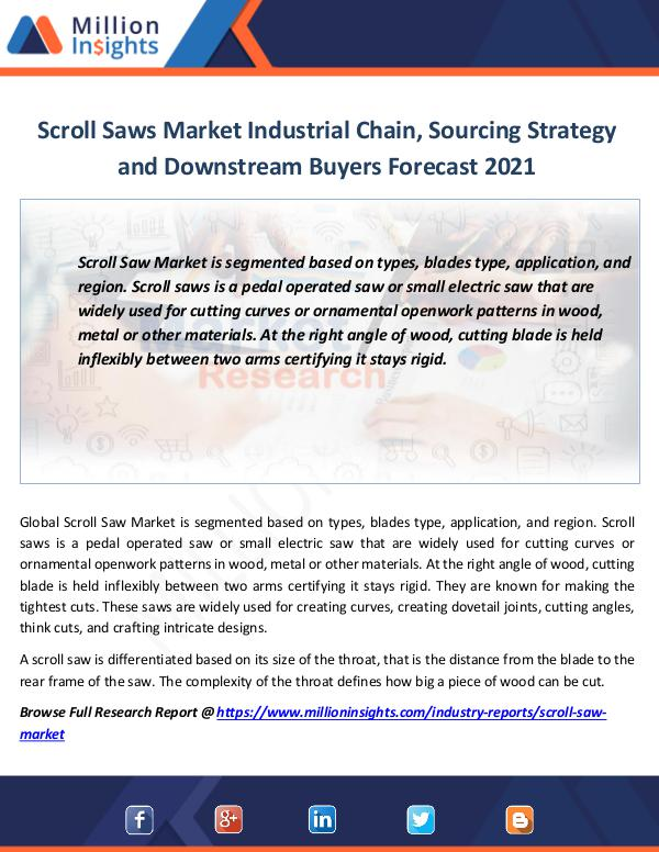 Market Revenue Scroll Saws Market Research Report