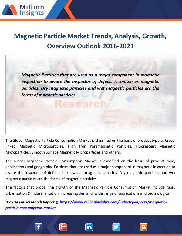 Market Revenue Magnetic Particle Market Trends, Analysis, Growth