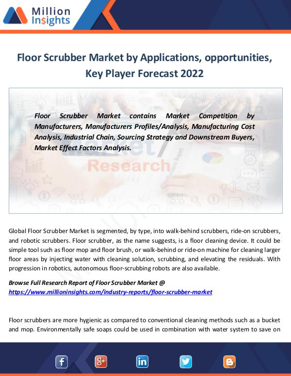 Market Revenue Floor Scrubber Market Forecast report