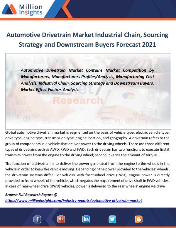 Market Revenue Automotive Drivetrain Market Industrial Chain