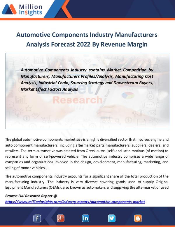 Automotive Components Industry forecast