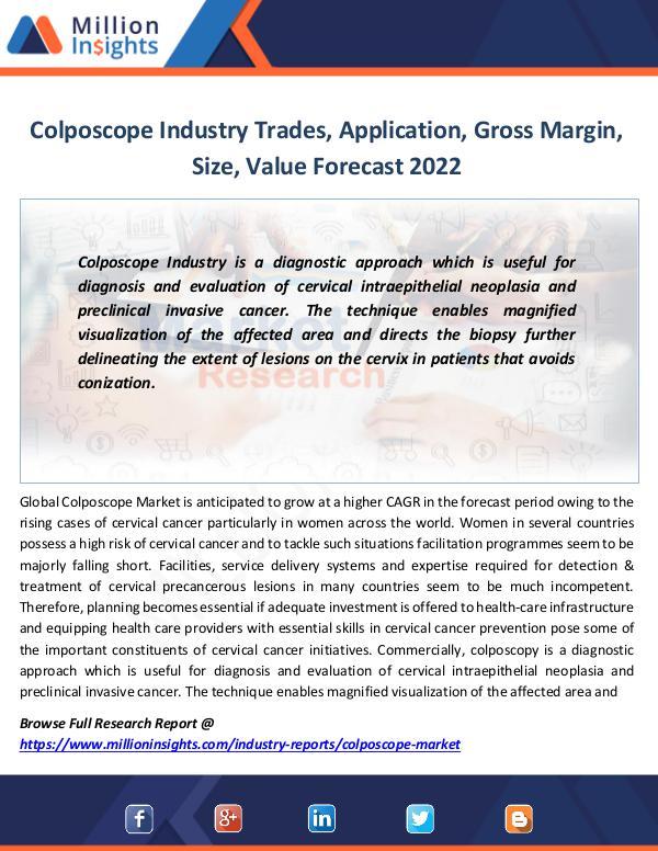 Market Revenue Colposcope Industry Trades, Application