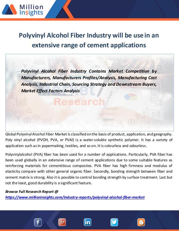 Polyvinyl Alcohol Fiber Market Report