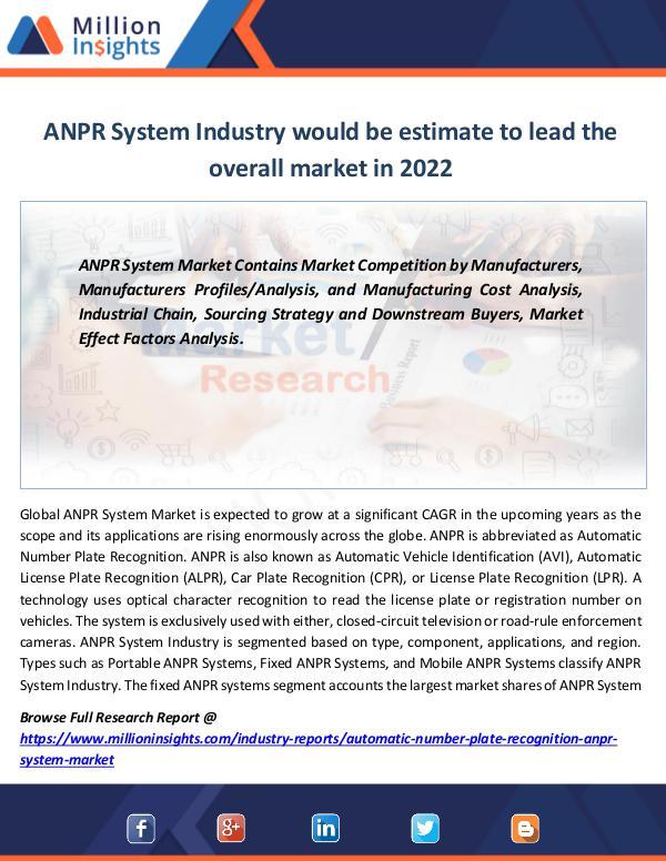 ANPR System Industry Segmentations