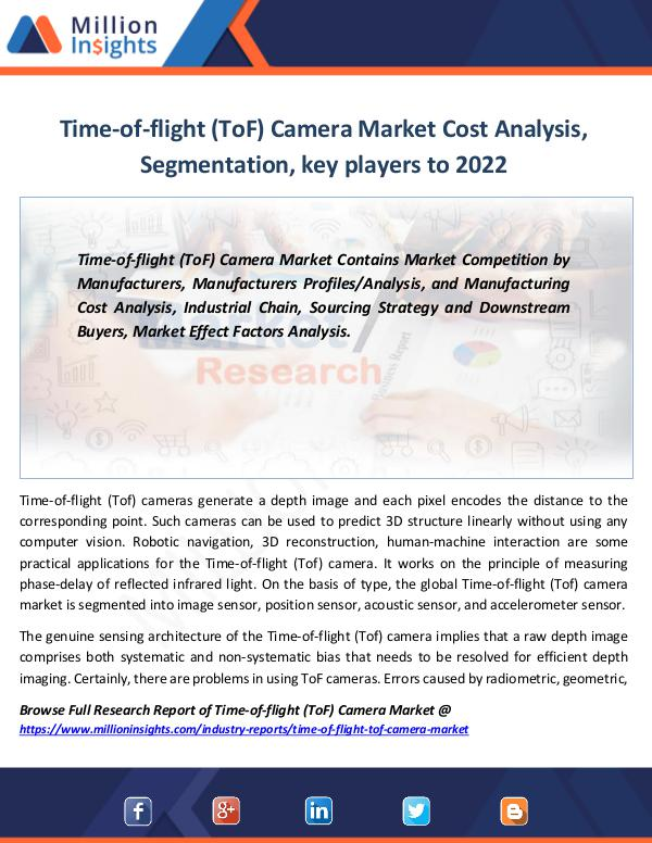 Market Revenue Time-of-flight (ToF) Camera Market Cost Analysis
