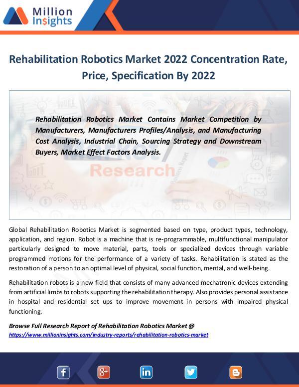 Rehabilitation Robotics Market 2022 Concentration