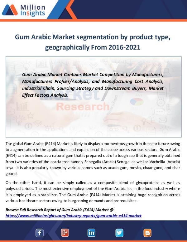 Gum Arabic Market segmentation by product type