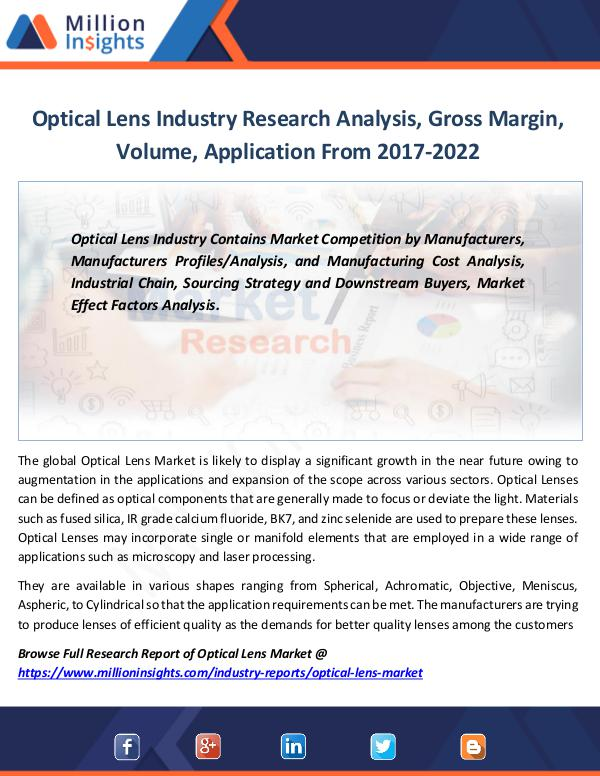 Market Revenue Optical Lens Industry Research Analysis