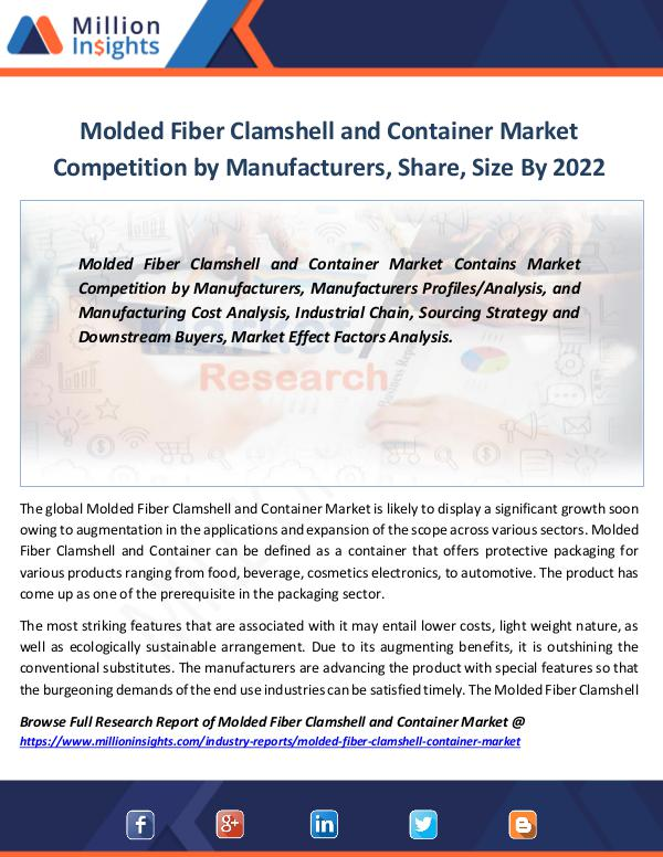 Molded Fiber Clamshell and Container Market 2022