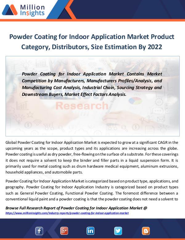 Powder Coating for Indoor Application Market 2022