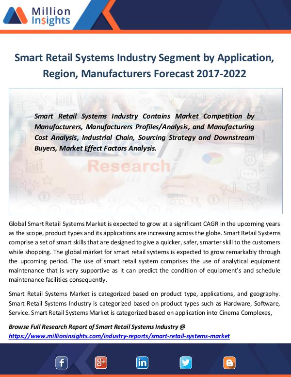 Market Revenue Smart Retail Systems Industry Segment by 2022
