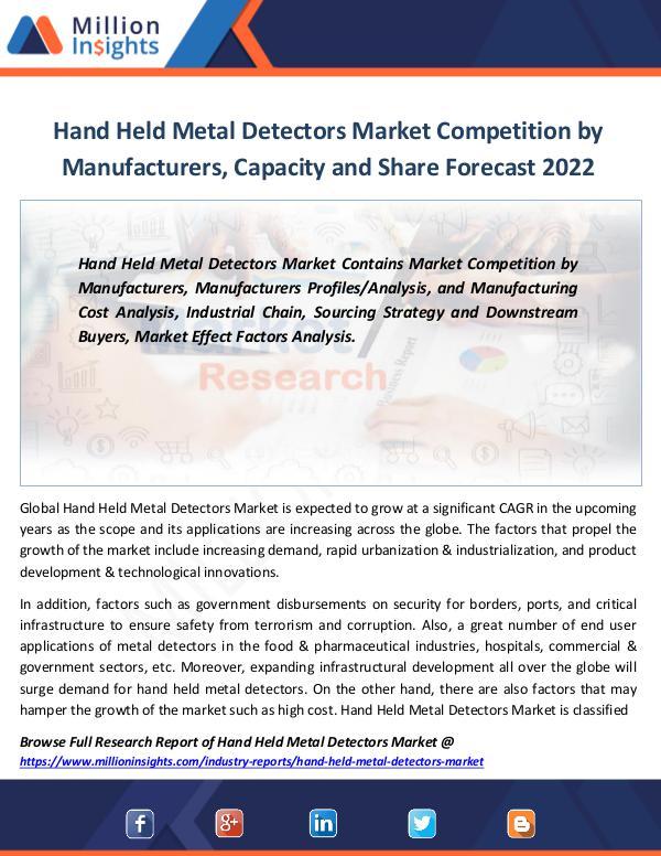 Hand Held Metal Detectors Market Competition