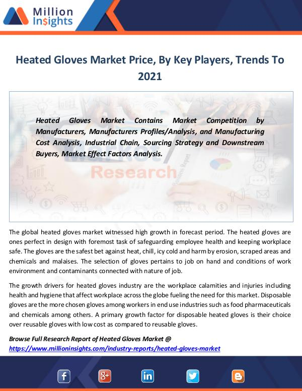 Heated Gloves Market Price, By Key Players, Trends