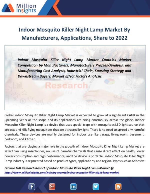 Indoor Mosquito Killer Night Lamp Market By 2022
