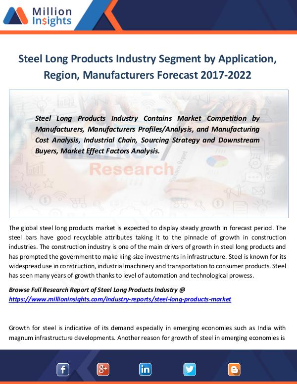 Steel Long Products Industry Segment by Sales