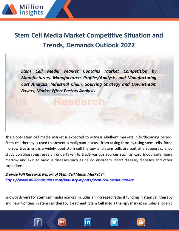 Stem Cell Media Market Competitive Situation 2022