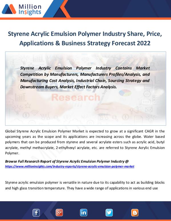 Market Revenue Styrene Acrylic Emulsion Polymer Industry Share