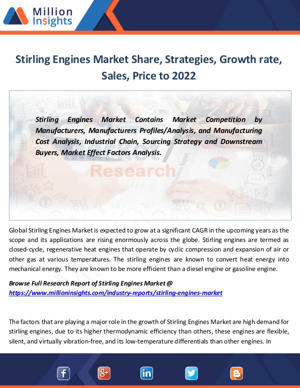 Market Revenue Stirling Engines Market Share, Strategies, Growth