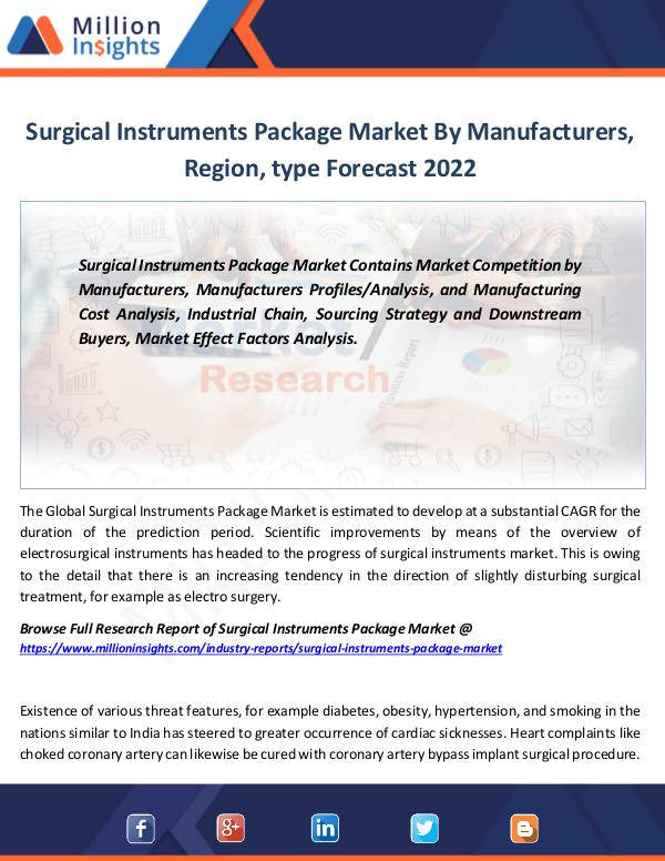 Market Revenue Surgical Instruments Package Market By 2022