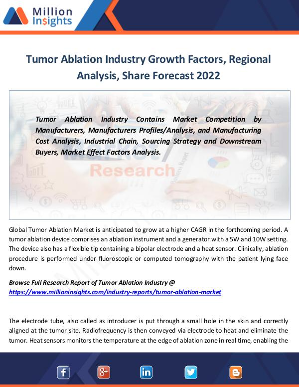 Tumor Ablation Industry Growth Factors by 2022