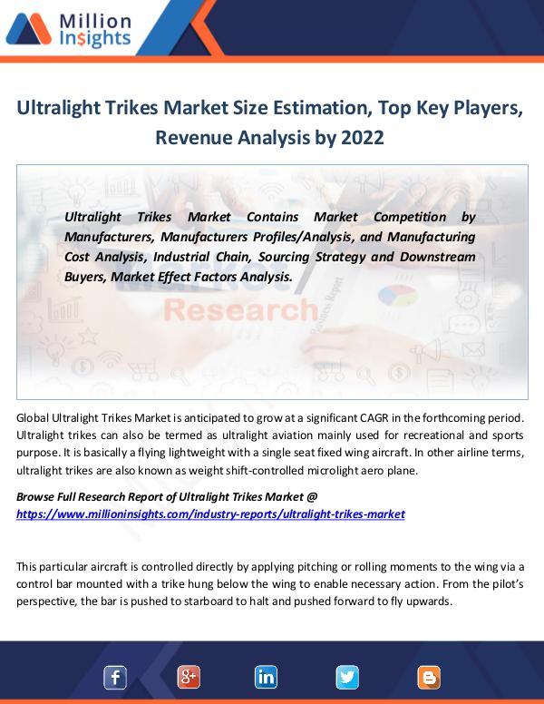 Market Revenue Ultralight Trikes Market Size Estimation 2022