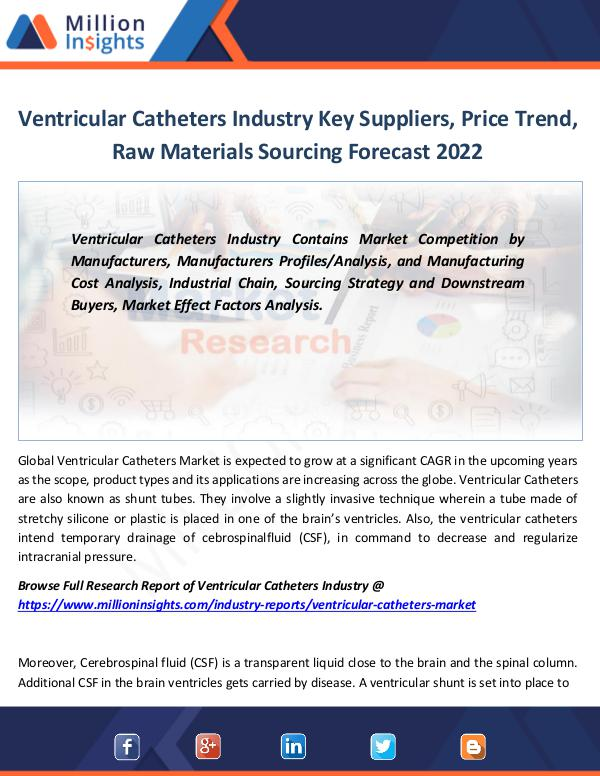 Market Revenue Ventricular Catheters Industry Key Suppliers 2022