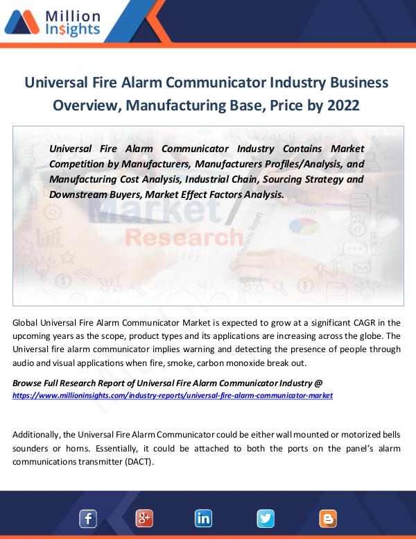 Universal Fire Alarm Communicator Industry by 2022