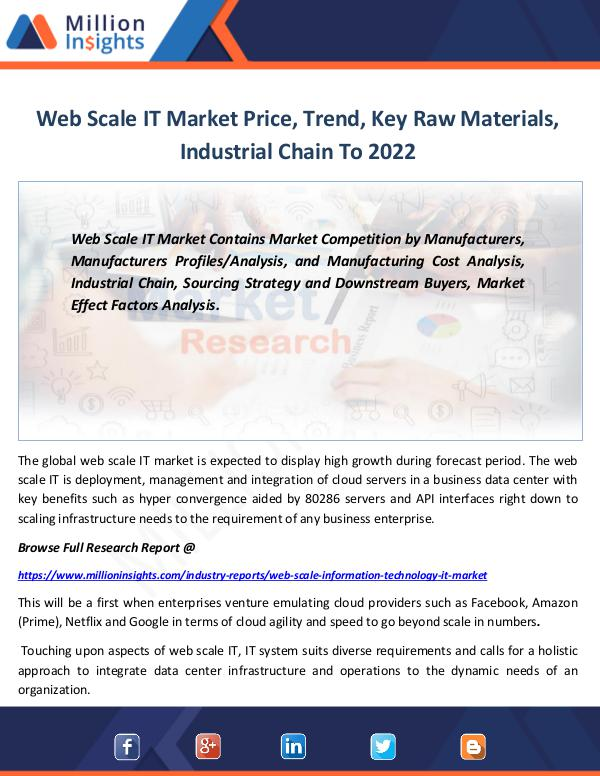 Market Revenue Web Scale IT Market Price, Trend, Key Raw Material