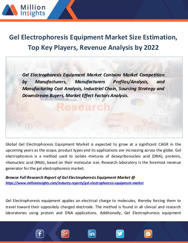 Gel Electrophoresis Equipment Market Size 2022