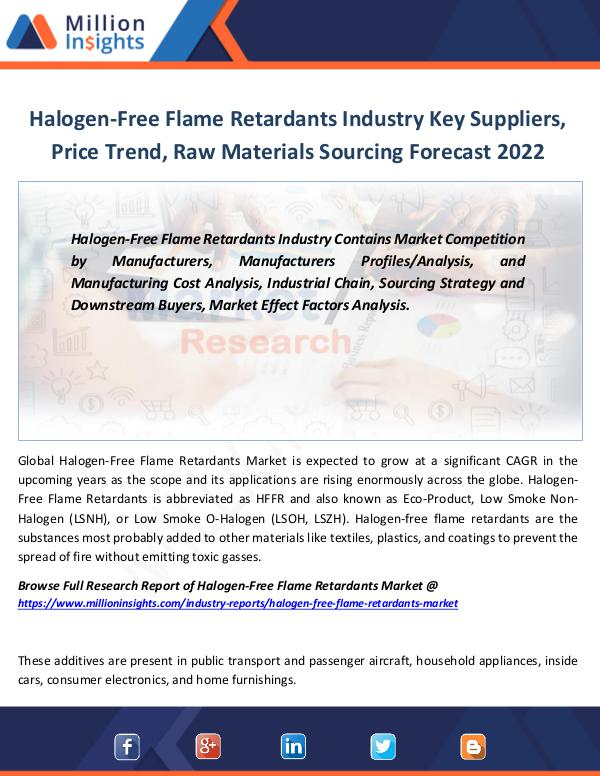 Halogen-Free Flame Retardants Industry Shares 2022