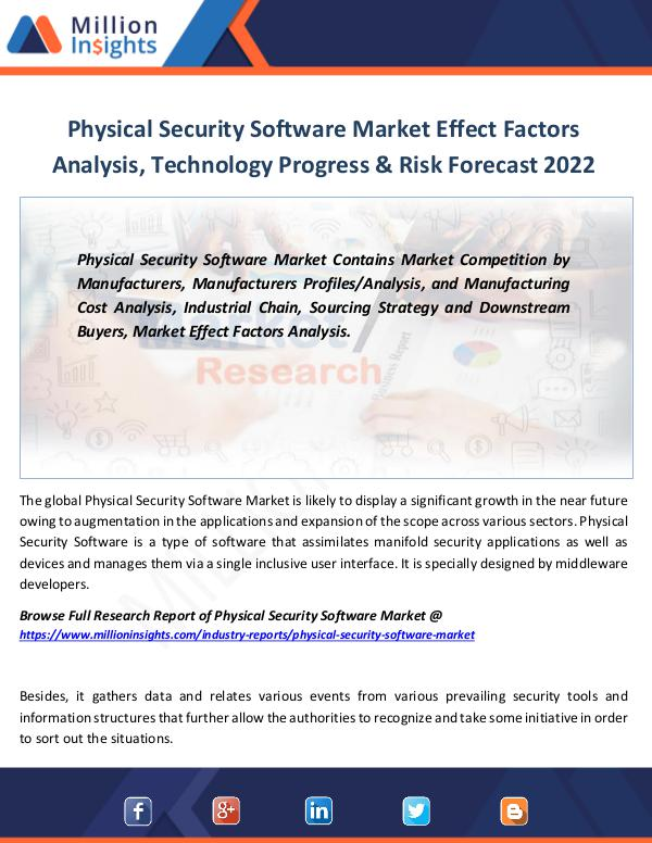 Physical Security Software Market Effect Factors