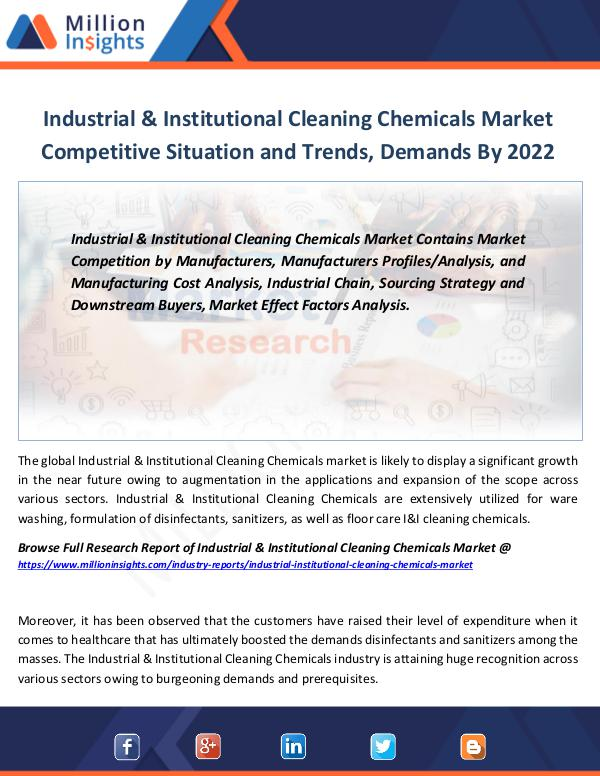 Industrial & Institutional Cleaning Chemicals