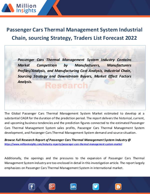 Market Revenue Passenger Cars Thermal Management System Industry