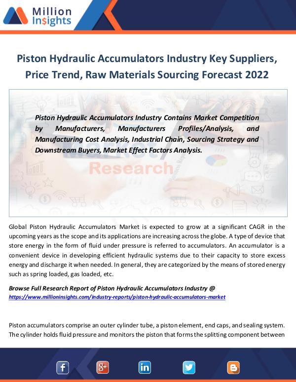 Piston Hydraulic Accumulators Industry Key Players