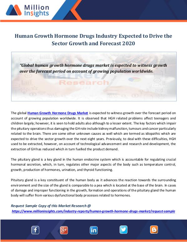 Market Revenue Human Growth Hormone Drugs Industry