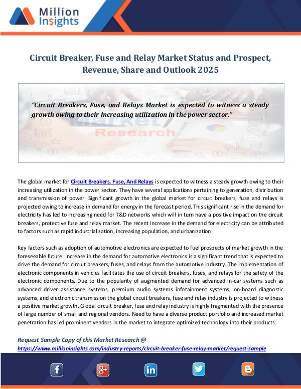 Circuit Breaker, Fuse and Relay Market Status
