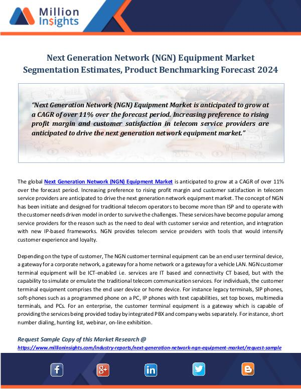 Market Revenue Next Generation Network (NGN) Equipment Market