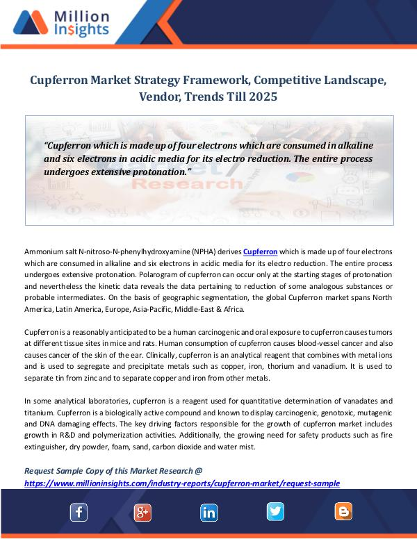 Market Revenue Cupferron Market Strategy Framework