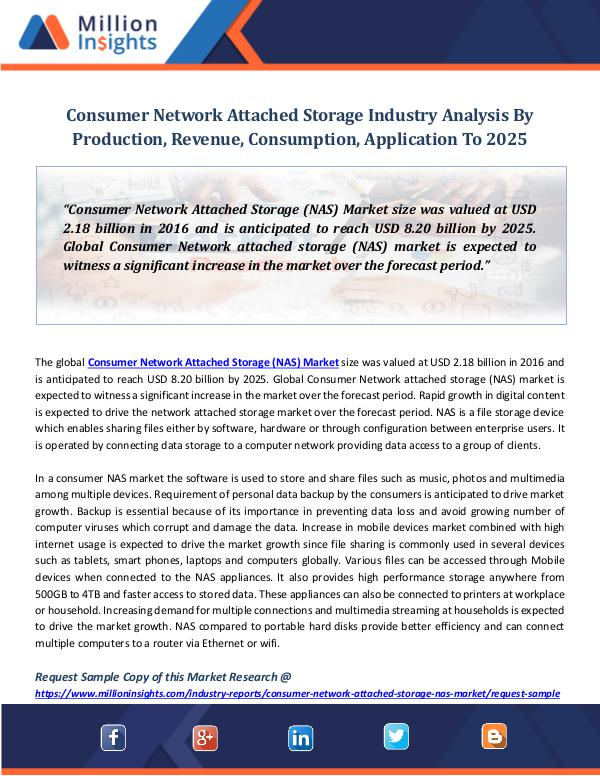Market Revenue Consumer Network Attached Storage Industry
