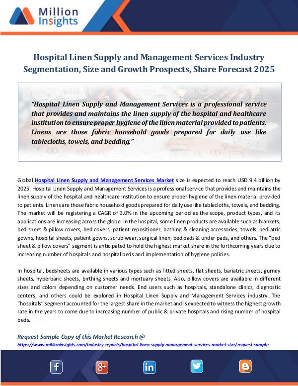 Market Revenue Hospital Linen Supply and Management Services