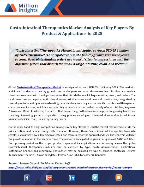 Gastrointestinal Therapeutics Market Analysis