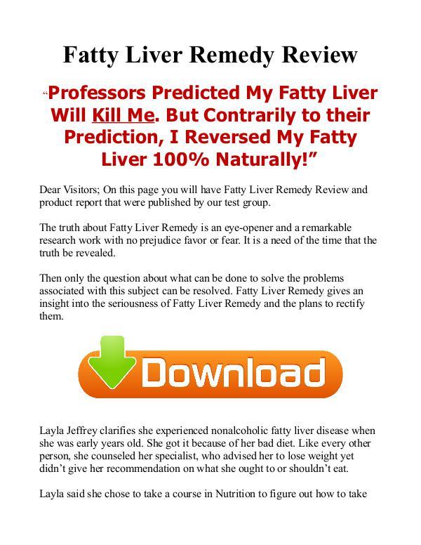 Fatty Liver Remedy Natural / PDF eBook Free Download Fatty Liver Disease