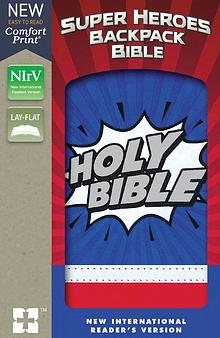 NIrV Super Heroes Backpack Bible